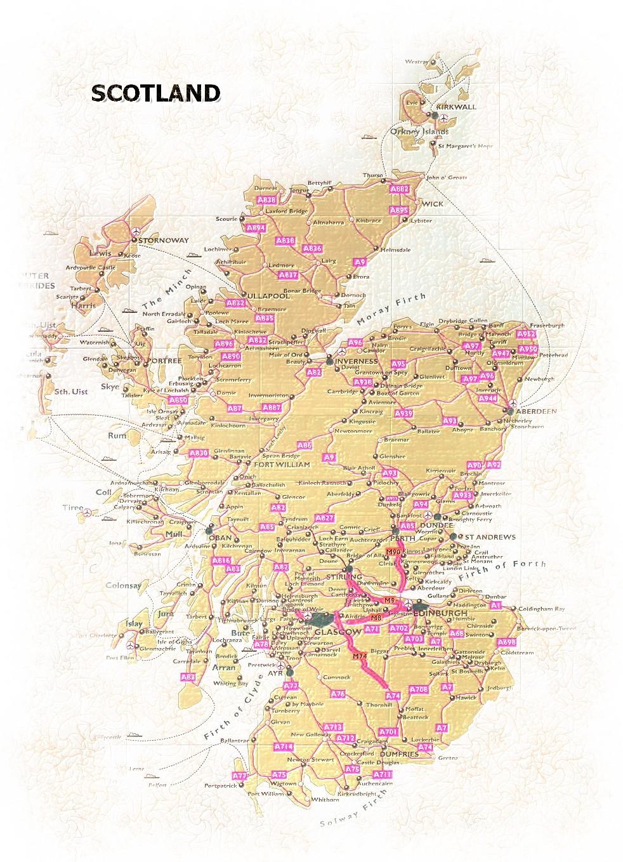 Schottland Karte Whisky.Schottland Map Karte
